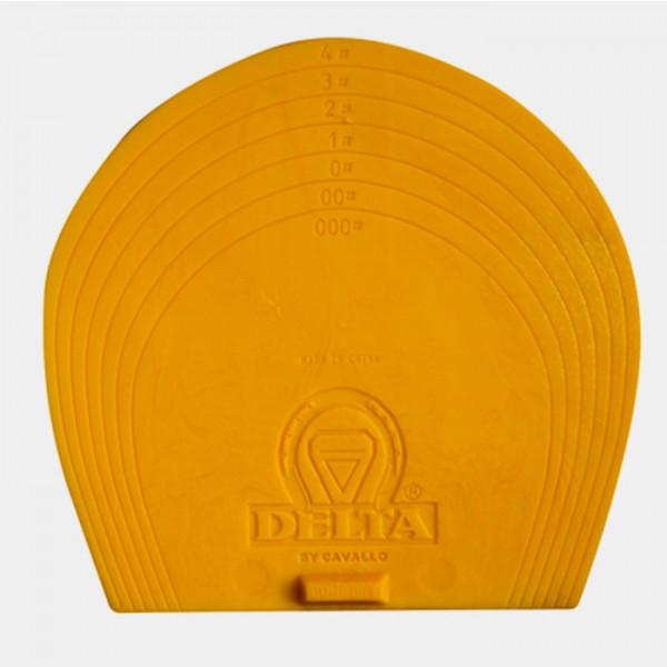 DELTA BOOT - Plaques plastic jaunes pour chaussons - 000 A 4