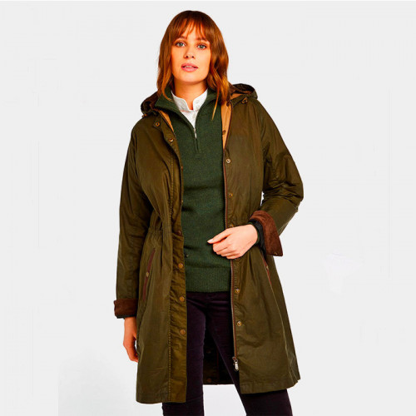 DUBARRY - Manteau long femme en coton huilé Ballyvaughan